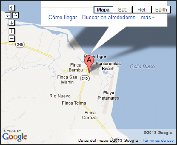 Where is located Puerto Jimenez?