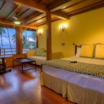 Luxury room beach fron at playa cativo lodge
